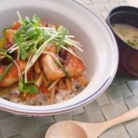 レシピ紹介 ~鯛と野菜のシャキシャキ丼~