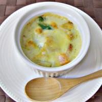レシピ紹介 ~鶏肉とスナックピースの豆乳グラタン~