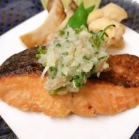 レシピ紹介~鮭の照焼き香味卸し添え~